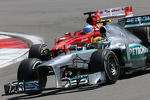 Lewis Hamilton, Mercedes Grand Prix and Fernando Alonso, Scuderia Ferrari