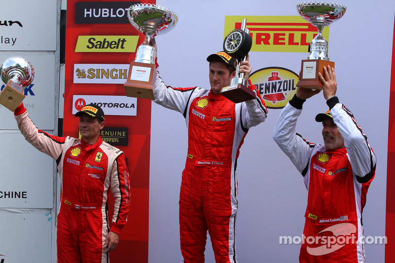 Trofeo Pirelli podium: winner Onofrio Triarsi, second place Damon Ockey, third place Alfred Caiola