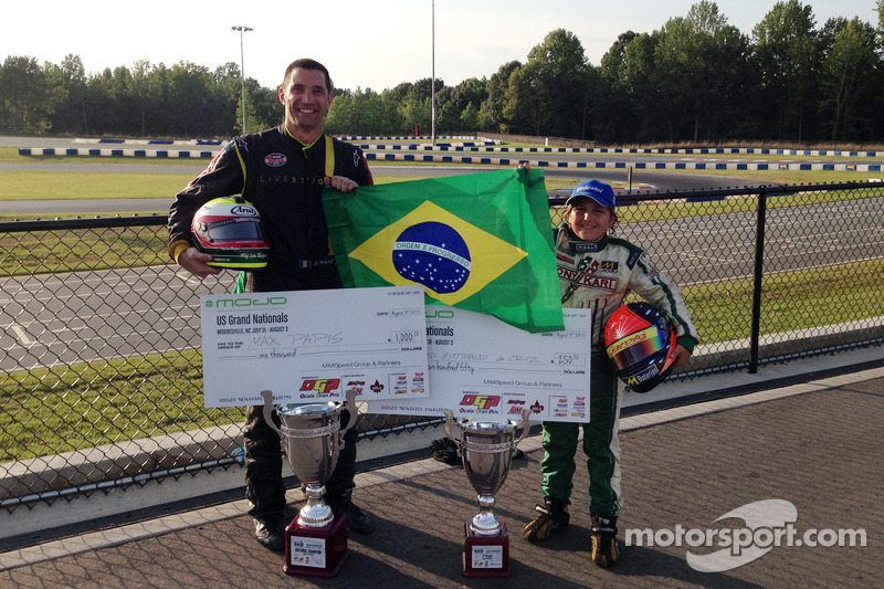 Max Papis, National Champion Masters Class, Enzo Fittipaldi, second place Mini Max Class