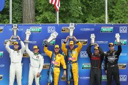 Continental GS podium  1st   #13 Rum Bum Racing Porsche 997: Nick Longhi, Matt Plumb  2nd  #71 Multimatic Motorsports Aston Martin Vantage: Tonis, Kasemets, Michael Marsal  3rd  #14 Doran Racing Nissan 370Z: Bryan Heitkotter, B.J. Zacharias