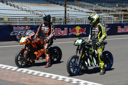 Electric motorcycle riders