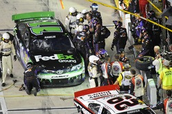 Denny Hamlin, Joe Gibbs Racing Toyota and Kevin Harvick, Richard Childress Racing Chevrolet