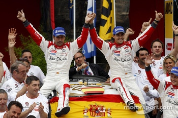 Winners Dani Sordo, Carlos del Barrio, Citroen DS3 WRC #3, Citroen Total Abu Dhabi World Rally Team