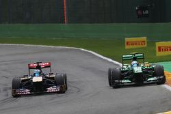 Jean-Eric Vergne, Scuderia Toro Rosso and Giedo van der Garde, Caterham
