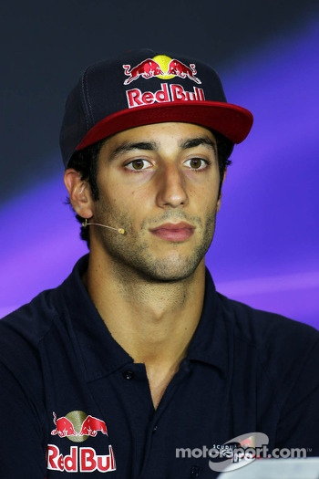 Daniel Ricciardo, Scuderia Toro Rosso in the FIA Press Conference