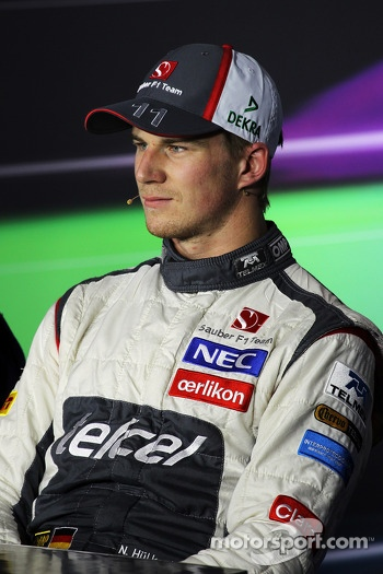 Nico Hulkenberg, Sauber in the FIA Press Conference