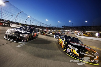 Pace laps: Jeff Gordon and Kurt Busch lead the field