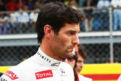 Mark Webber, Red Bull Racing on the grid
