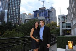 Carl Edwards with wife Katie