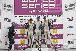 Race winner Nico Müller, second place Kevin Magnussen, third place Sergey Sirotkin