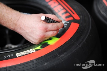 Pirelli tyres marked up