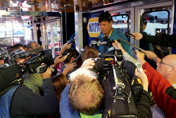 NASCAR-CUP: Michael Waltrip addresses the media