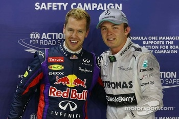 pole for Sebastian Vettel, Red Bull Racing, 2nd for Nico Rosberg, Mercedes AMG F1