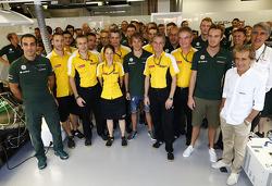 Cyril Abiteboul, and  Jean-Francois Caubet, Renault Sport F1 Managing Director, Charles Pic, Catheram Formula One Team and Giedo van der Garde, Caterham F1 Team