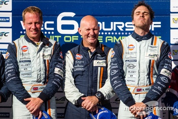 LMGTE Am podium: class winners Stuart Hall, Jamie Campbell-Walter