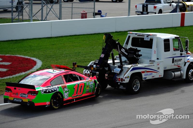 Wrecked car of Danica Patrick, Stewart-Haas Racing Chevrolet