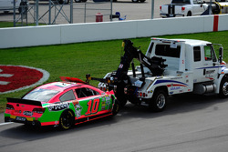 Wrecked car of Danica Patrick, Stewart-Haas Racing Chevrolet