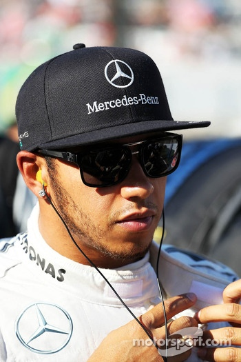 Lewis Hamilton, Mercedes AMG F1 on the grid