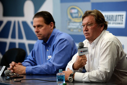Gene Stefanyshyn, vice president of Innovation and Racing Development for NASCAR, and Robin Pemberton, vice president for competition of NASCAR