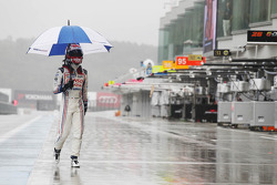 Kazuki Nakajima after the race was stopped due to heavy rain