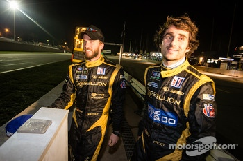 Nick Heidfeld and Nicolas Prost get ready to celebrate