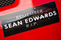 Remember Sean Edwards decals on the #45 Flying Lizard Motorsports Porsche 911 GT3 Cup
