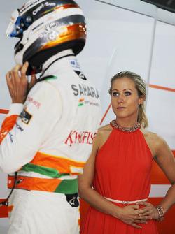 Jennifer Becks, with boyfriend Adrian Sutil, Sahara Force India F1
