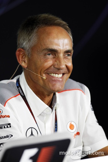 Martin Whitmarsh, McLaren Chief Executive Officer in the FIA Press Conference