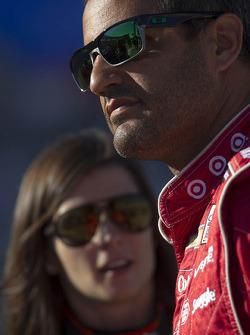 Juan Pablo Montoya and Danica Patrick