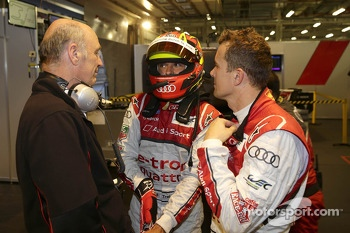 Dr. Wolfgang Ullrich, head of Audi Motorsport, Benoit Tréluyer and Marcel Fässler