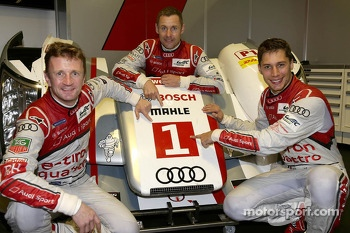 2013 World Champions Loic Duval, Tom Kristensen, Allan McNish