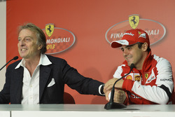 Felipe Massa and Luca di Montezemolo