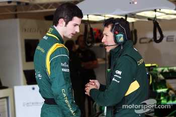 Alexander Rossi, Caterham F1 Reserve Driver with Juan Pablo Ramirez, Caterham Race Engineer