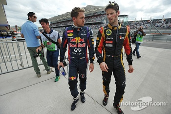 Sebastian Vettel and Romain Grosjean