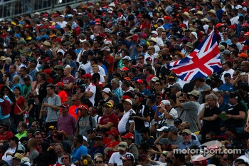 British flag in the grandstand