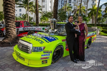 NASCAR Camping World Truck Series champion driver Matt Crafton with his wife