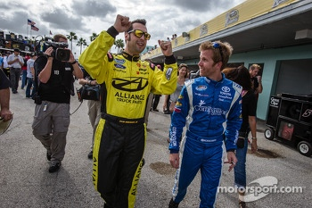 Pole winner Sam Hornish Jr. with runner-up Blake Koch