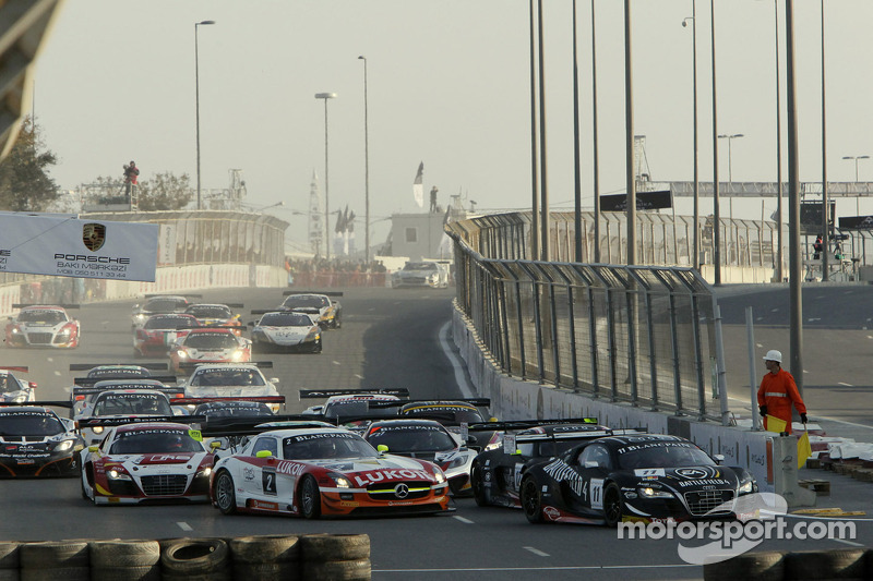 Start: #11 Belgian Audi Club Team WRT Audi R8 LMS ultra: Stéphane Ortelli, Laurens Vanthoor leads