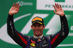 F1: 2nd place Mark Webber, Red Bull Racing