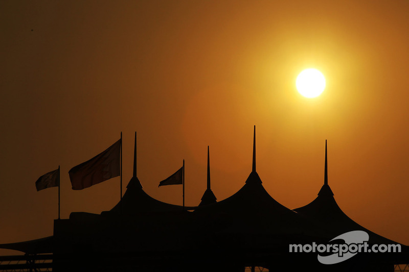 The sun sets over Bahrain