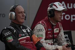 Dr. Wolfgang Ullrich, head of Audi Motorsport, Andre Lotterer