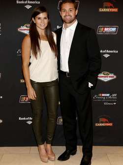 Danica Patrick and Ricky Stenhouse Jr. at the NASCAR Evening Series