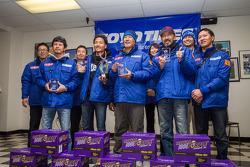 Class winners #95 Team SPOON honda CR-Z: Naoki Hattori, Tatsuru Ichishima, Hidetoshi Mitsusada, Daijiro Yoshihara