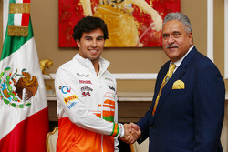 Sergio Perez and Vijay Mallya