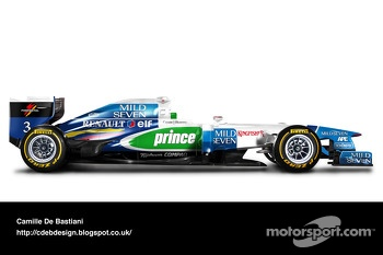 Retro F1 car - Benetton 1996