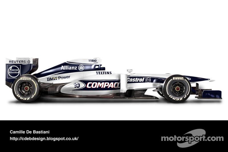 Formel-1-Auto im Retrodesign: Williams 2000