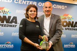 Tequila Patron press conference: Stephanie Rivera from Tequila Patron and Scott Atherton, IMSA President
