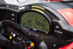 Instrument panel on the #6 Pickett Racing ORECA Nissan