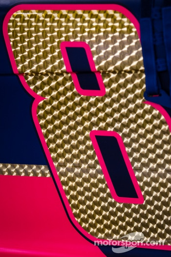 Number detail on the Dale Earnhardt Jr., Hendrick Motorsports Chevrolet