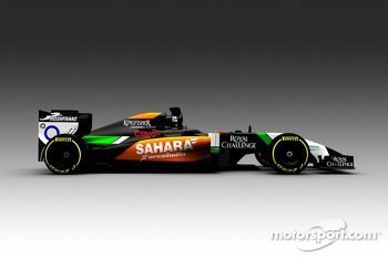Computer rendering of the new Sahara Force India VJM07